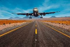 Flugzeug landet